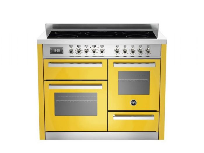 Beratzzoni 110 cm YELLOW 5 Zone induction triple oven Professional Series  PRO110-6-MFE-T-GIT